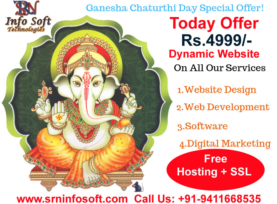 Ganesh Shaturthi Big offer for Dynamic website Development
