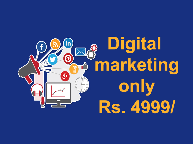 Digital marketing only Rs. 4999/