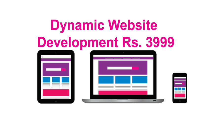 Dynamic website development Rs. 3999 + Hosting + SSL