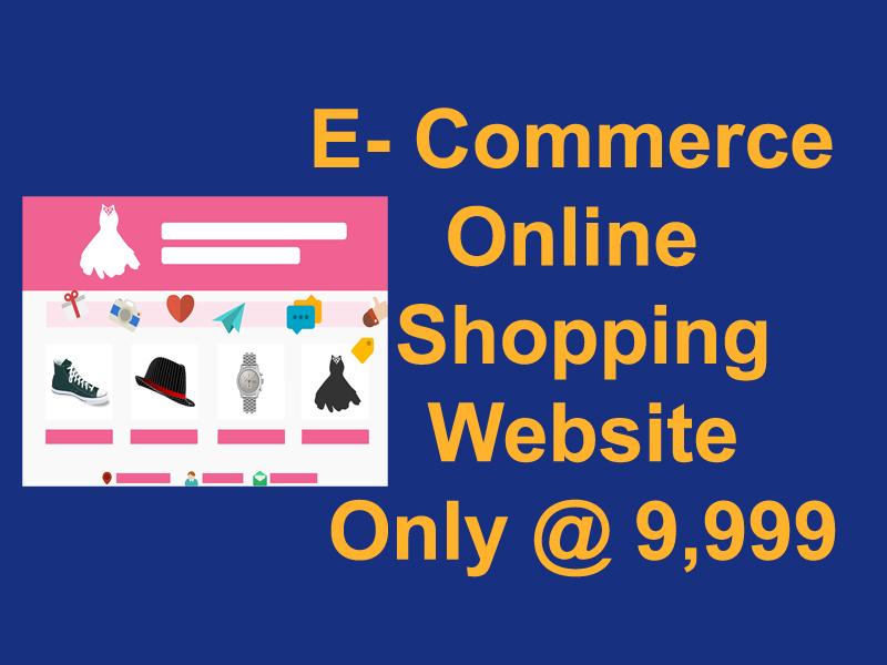 E- Commerce Online Shopping Website Only @ 9,999